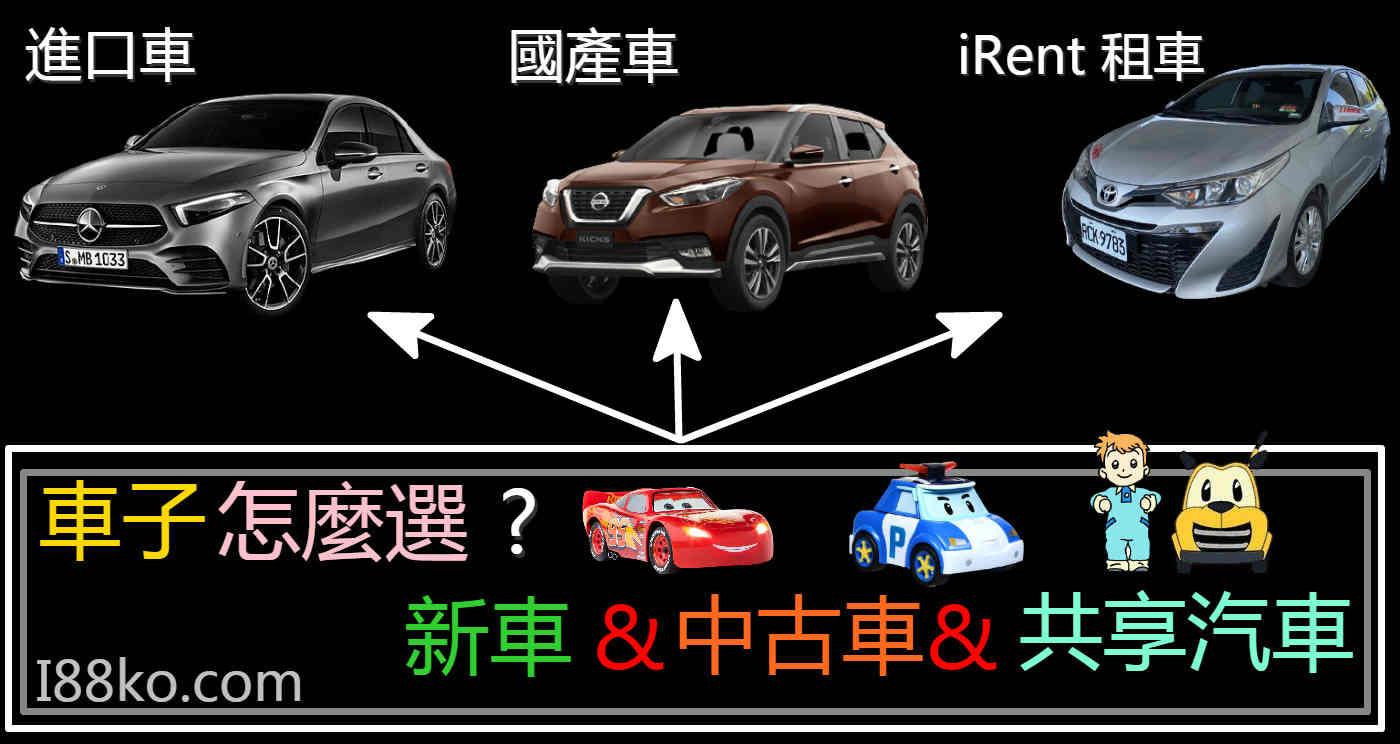 共享汽車app、買車推薦、中古車推薦、2020新車推薦、買車注意事項